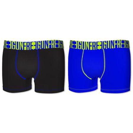 Freegun deške boksarice, 2kos, črna+modra, 6-8