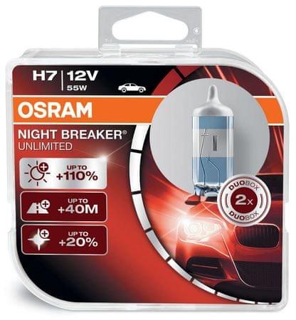 Osram par žarulja H7 - 55W - 12V Night Breaker Unlimited