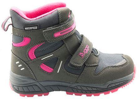 Bugga dievčenské zimné topánky 29 sivá/fialová