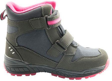 121e61ea6986e Bugga dievčenské zimné topánky 28 sivá/fialová | MALL.SK