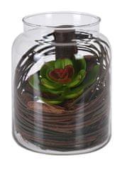 Koopman Dekoračná umelá kvetina v sklenenej dóze, dekor č.1