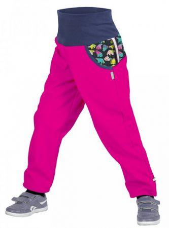 Unuo Dívčí softshellové kalhoty s fleecem Souhvězdí medvěda Fuchsia 98/104 růžové