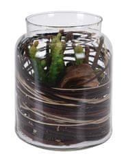 Koopman Dekoračná umelá kvetina v sklenenej dóze, dekor č.3