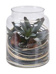 Koopman Dekoračná umelá kvetina v sklenenej dóze, dekor č.6