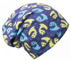 Unuo dječja kapa od flisa, s motivom dinosaura, plava