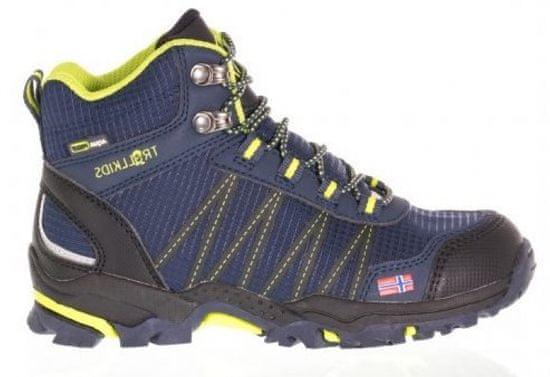 Trollkids Trolltunga Hiker Mid 28 modro-žlutá