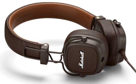 MARSHALL slušalke Major III, rjave