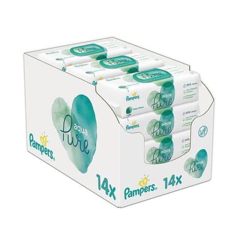 Pampers 14x Aqua Pure vlažilni robčki, 48 kosov