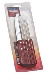 Tramontina CHURRASCO nůž steakový 6 ks 12 cm červené dřevo