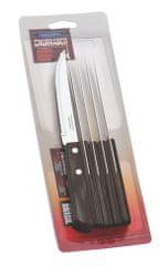 Tramontina CHURRASCO nůž steakový 6 ks 12 cm tmavé dřevo