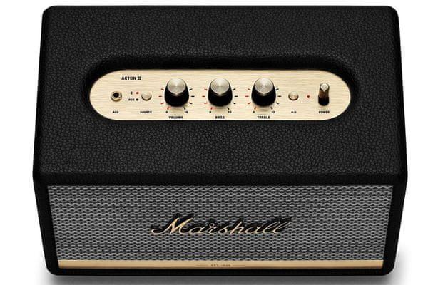 Reproduktor Marshall Acton II až 2 BT zařízení naráz Bluetooth 5.0 dosah 10 metrů