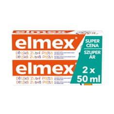 Elmex Kids zobna pasta Peuter (0-5 let), 2 kosa