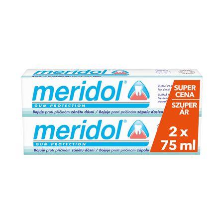 Meridol Fogszuvasodás elleni fogkrém, 2x75 ml