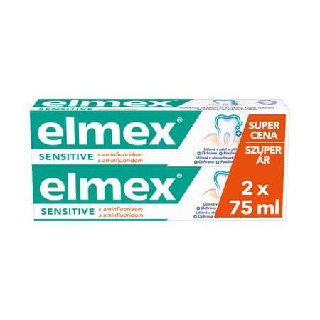 Elmex Sensitive Plus zobna pasta, 2x, 75 ml