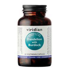 VIRIDIAN nutrition Dandelion with Burdock 60 kapslí