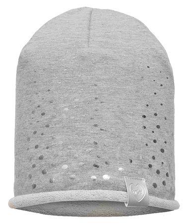 Broel dívčí čepice Dea 49 stříbrná/šedá