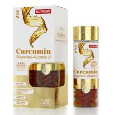 Nutrend Curcumin + Bioperine + Vitamin D 60 kapslí