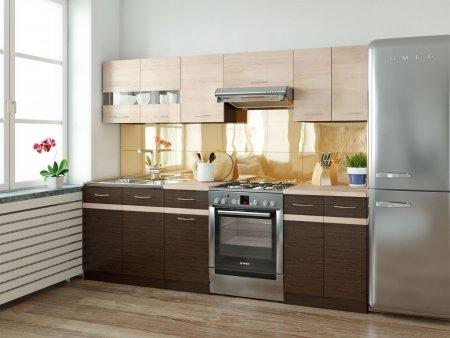 Kuchyně JAMISON 180/240 cm, korpus wenge/dvířka dub sonoma, wenge