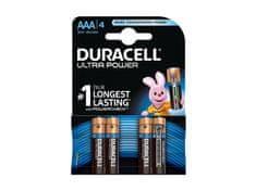 Duracell alkalne baterije Ultra Power, MX2400B4, AAA, 4 kos