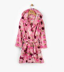 Hatley ogrtač za kupanje za djevojčice s motivom jabuka i konja Pony Orchard, roza