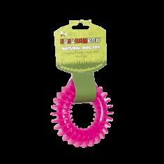 Huhubamboo Kroužek kroucený zelený - gumová hračka pro psy