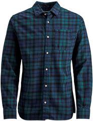 Jack&Jones Pánska košeľa Jorlegacy Shirt Org Deep Teal Slim