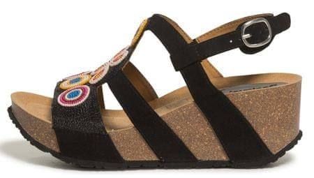 Desigual dámské sandály Shoes Odisea Flower Bead 36 černá