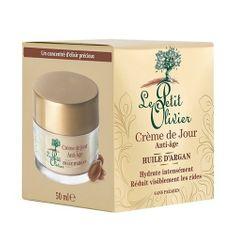 Le Petit Olivier Dzienna krem przeciwzmarszczkowy do olej arganowy (przeciw starzeniu Krem na dzień do olej arganow