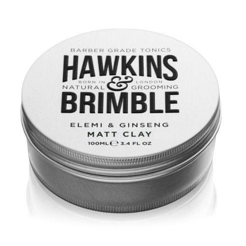 Hawkins & Brimble Zmatňujúci pomáda na vlasy s vôňou elemi a ženšenu (Elemi & Ginseng Matt Clay) 100 ml
