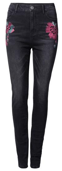Desigual dámské jeansy Denim Atenas 26 čierna
