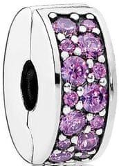 Pandora Bleščeče vijolična sponka 791817CFP srebro 925/1000