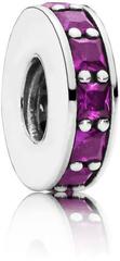 Pandora Elválasztó gyöngy lila kristályokkal 791724NRP ezüst 925/1000