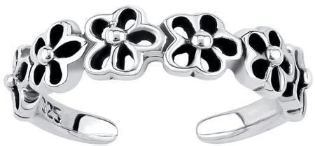 Silvego Srebrni prstan za noge s cvetjem PRMR11673 srebro 925/1000
