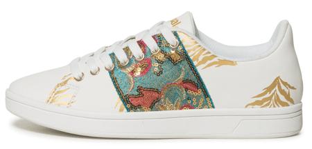 Desigual dámské tenisky Shoes Cosmic Exotic Tro 37 bílá