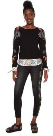 Desigual ženska majica Jers Travis, XS, črna