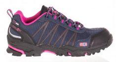 Trollkids Dívčí outdoorová obuv Trolltunga Hiker Low - modro-růžová