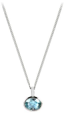 Silver Cat Miękki naszyjnik z niebieskim kryształem SC262 srebro 925/1000