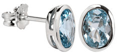 Silver Cat Nežni uhani z modrim kristalom SC263 srebro 925/1000