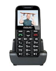 Evolveo telefon za starejše Easyphone XD, črn