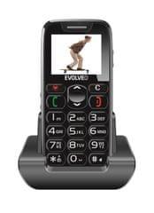 Evolveo EasyPhone s nabíjecím stojánkem, černý
