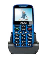 Evolveo EasyPhone XD, modrý, nabíjecí stojánek