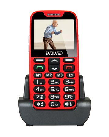 Evolveo telefon za starejše Easyphone XD, rdeč
