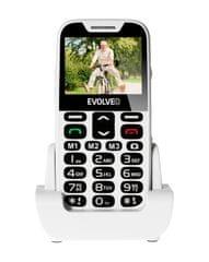 Evolveo telefon za starejše EasyPhone XD, bel