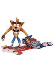 Figurka Crash Bandicoot - Hoverboard Crash (NECA. 14 cm)