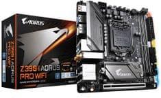 Gigabyte osnovna plošča Z390 I AORUS PRO WIFI, DDR4, USB 3.1 Gen 2, LGA1151, mini ITX