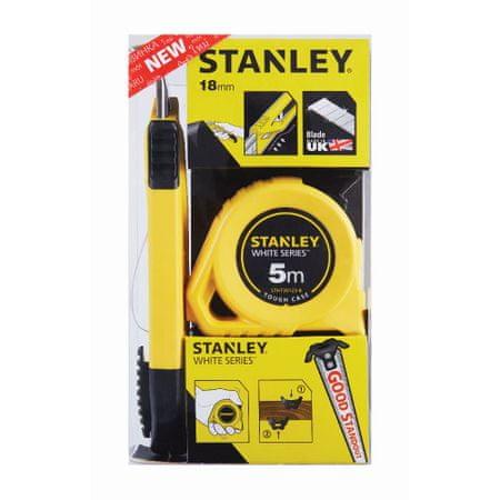 Stanley set metalni metar 5m i Autolock nož