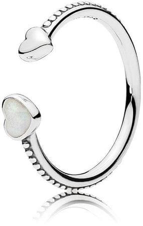 Pandora Ring z otwartym sercem 191045EN23 (obwód 54 mm) srebro 925/1000