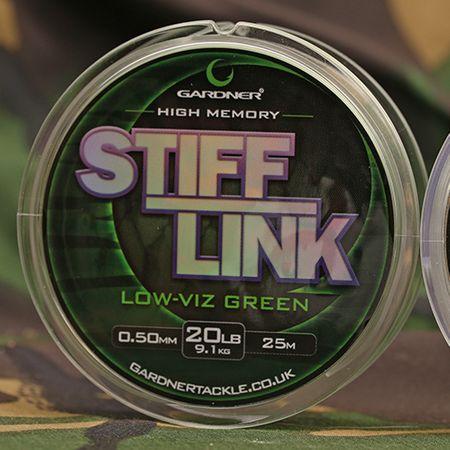 Gardner Vlasec Stiff-Link Zelená 25 m 0,55 mm, 11,3 kg
