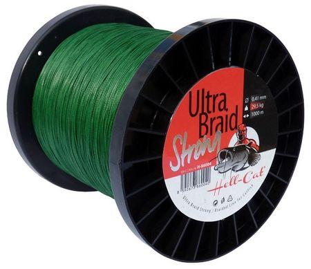 Hell-Cat Splétaná Šňůra Ultra Braid Strong Zelená 1000 m 0,48 mm, 36,4 kg