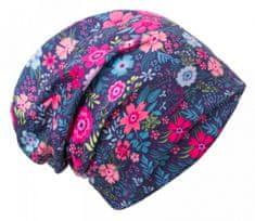 Unuo Dievčenská čiapka fleece Kvety - farebná